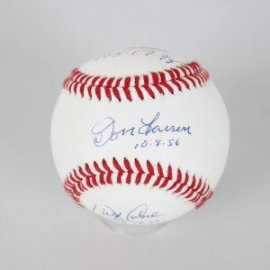 Don Larsen/ David Wells/ David Cone/  Signed  Baseball w/ PG Inscription