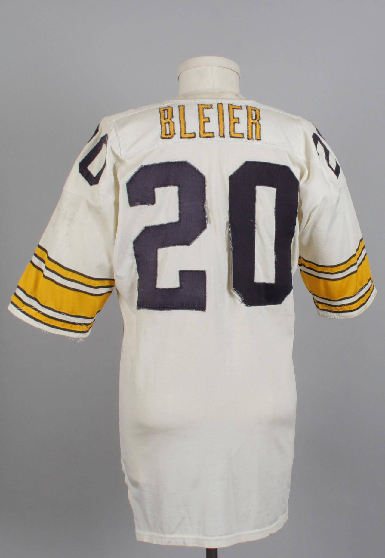 ... promo code for pittsburgh steelers mid 70s rocky bleier game worn white  durene jersey worn post 1157f42d6