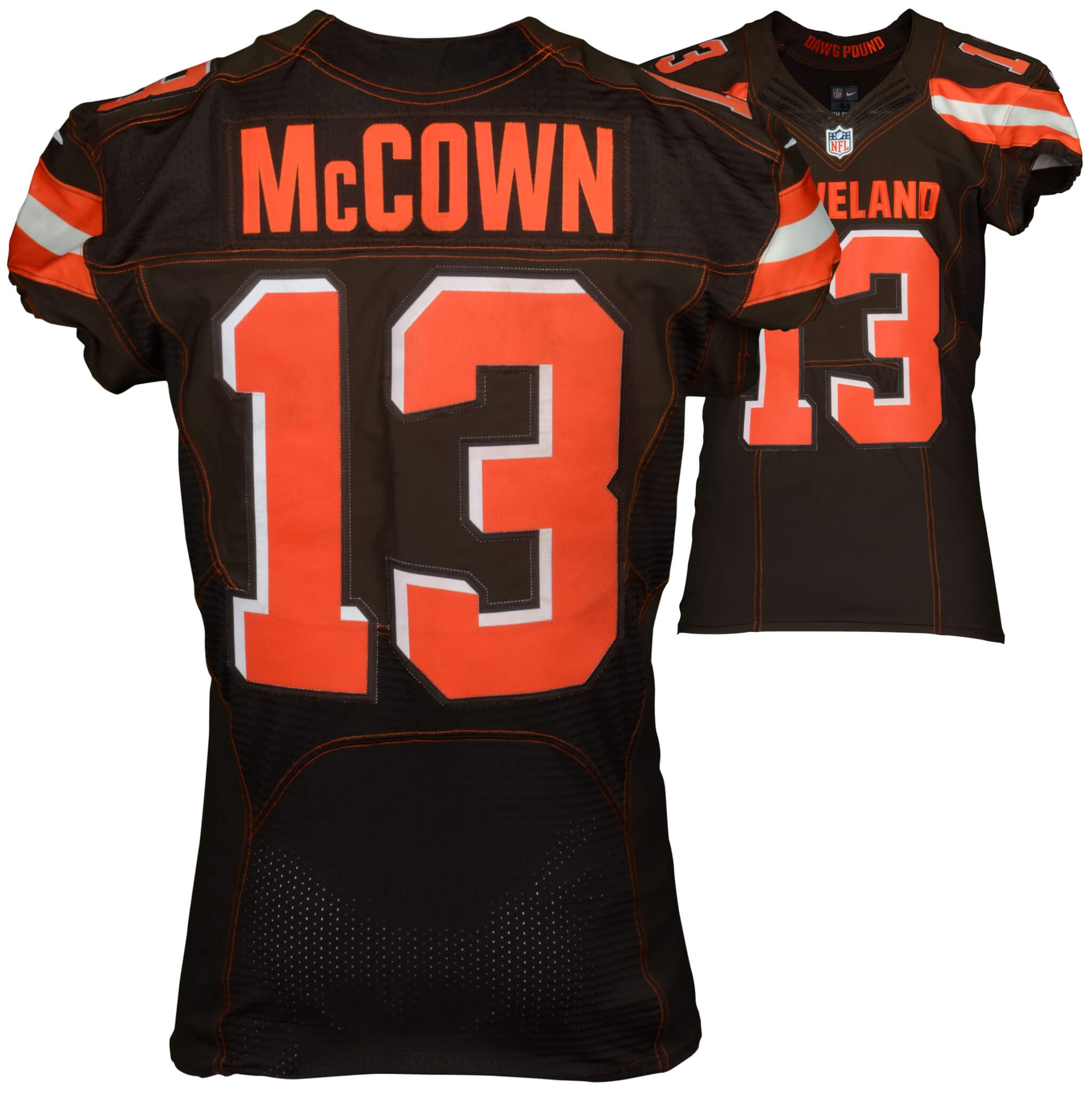 cdfa7de074c ... Jersey - Brown September 13, 2015 New York Jets vs. Cleveland Browns Josh  McCown Game-Used ...