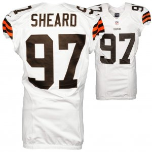 2014 Cleveland Browns Jabaal Sheard Game Used White #97 Jersey (NFL Team COA)