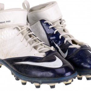 Julius Thomas Denver Broncos 2014 Game-Used Navy and White Nike Pair of Cleats