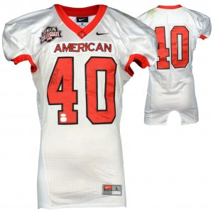Tony Bell Jr. Tennessee-Martin Skyhawks Autographed Game-Used NFLPA Collegiate Bowl Team American Black Jersey