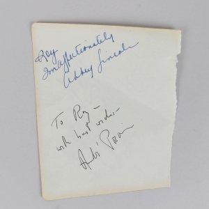 The Mills Brothers -  Harry, Donald & Herbert Mills Signed 5x6 Cut - JSA
