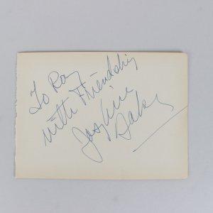 Rare - Joséphine Baker Signed 5x6 Cut