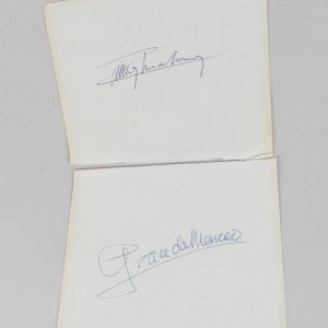 Rainier III & Grace De Monaco Signed 5x6 Cuts