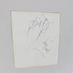 Rare - Bobby Darin, Phil & Don Everly Signed 5x6 Cut