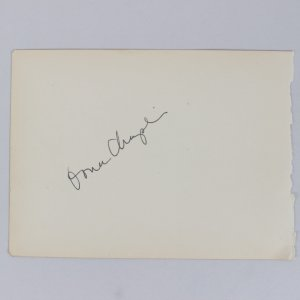 Rare - Oona Chaplin & Spencer Tracy Signed 5x6 Cut