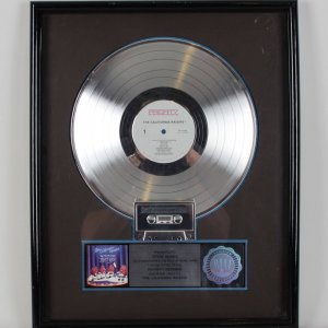 "The California Raisins "" Priority Records"" Platinum  Record Award, - Presented To Indy Record Promotor"
