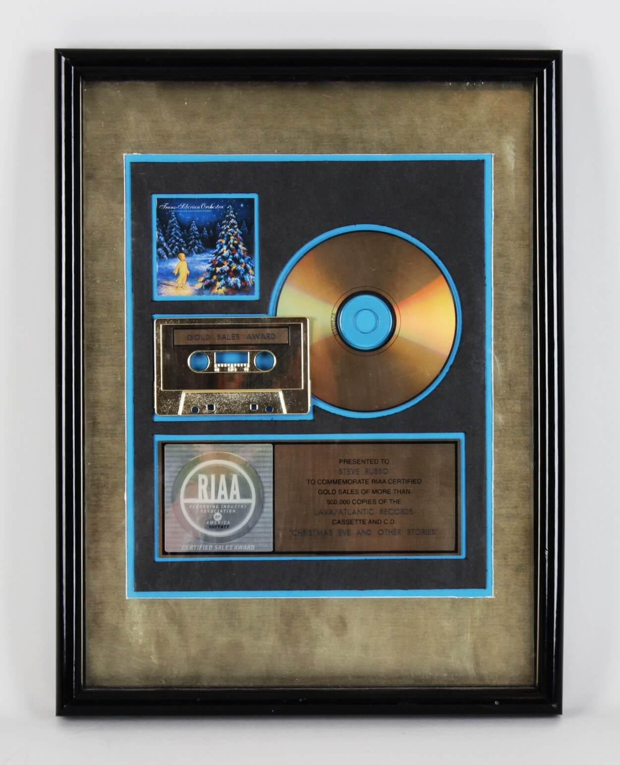 Trans Liberian Orchestra  Lava/Atlantic Gold  Record Award Presented To Steve Russo45675_01