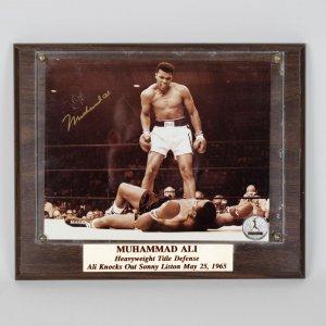 May 25, 1965 - Muhammad Ali Signed 11x13 Display