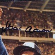 Atlanta Braves Hank Aaron Signed 12x15 Display
