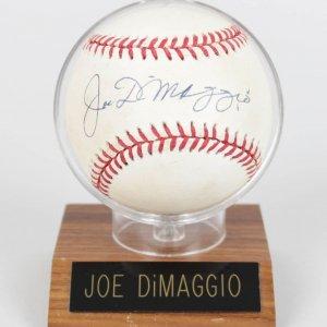 New York Yankees Joe DiMaggio Signed OAL (Brown) Baseball