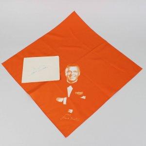 Singer Frank Sinatra Signed 5x6 Cut & Handkerchief