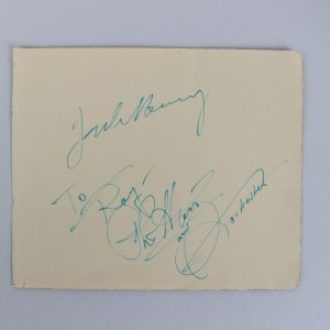 Jack Benny, Phil Harris & Rochester Signed 5x6 Cut - The Jack Benny Show