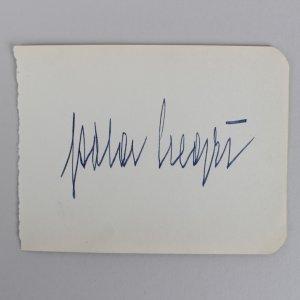Actress/Singer Pola Negri Signed 3x5 Cut