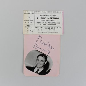 Actor Marlon Brando Signed 3x5 Cut With Ticket From Show