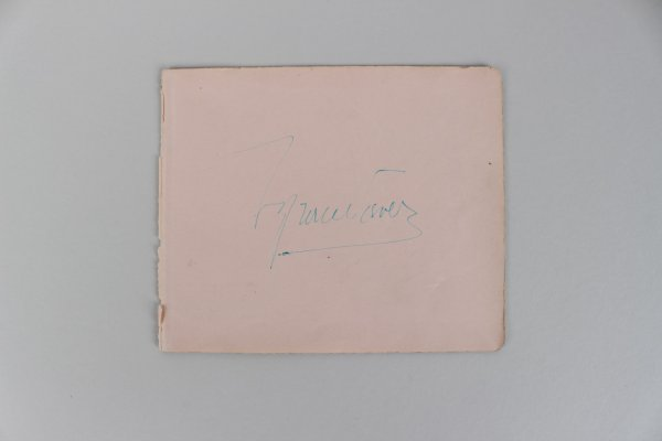 Actor Tyrone Power Signed 5x6 Cut