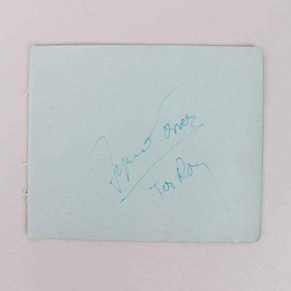 Actor Tyrone Power Signed 5x6 Cut - JSA