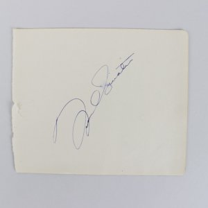 Singer Frank Sinatra Signed 5x6 Cut