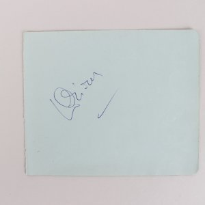 Actor Laurence Olivier Signed 5x6 Cut