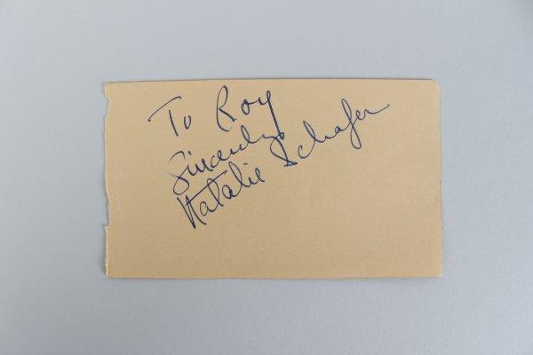 Actor/Actress Arthur Miller & Natalie Schafer Signed Cut