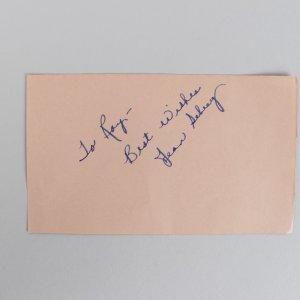 Actor/Actress Jean Seberg & Milton Berle Signed 3x5 Cut