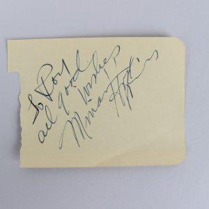 Rare - Actress Miriam Hopkins Signed 3x5 Cut