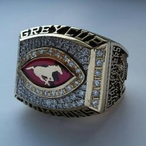 2001 CFL Calgary Stampeders - Anthony Prior Grey Cup Championship Ring w/Presentation Box (COA Intergold)