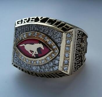2001 CFL Calgary Stampeders - Anthony Prior Grey Cup Championship Ring w/Presentation Box (COA Intergold)