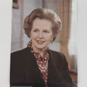 Prime Minister Margaret Thatcher Signed 14x19 Campaign Poster