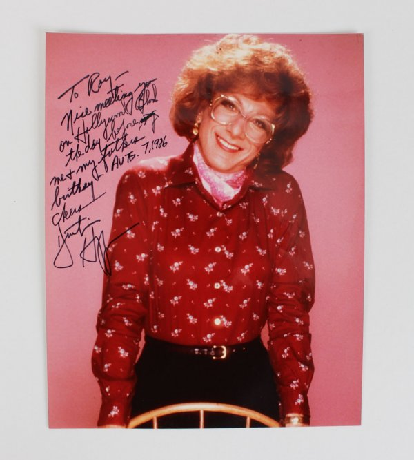 Dustin Hoffman Signed & Inscribed 8x10 Tootsie Color Photo