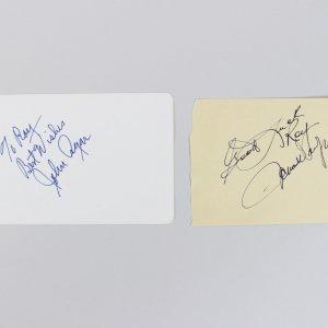 Actors John Wayne & John Ryan Signed Cuts