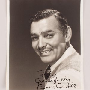 Clark Gable Signed & Inscribed ( Gratefully) 8x10 B&W Photo