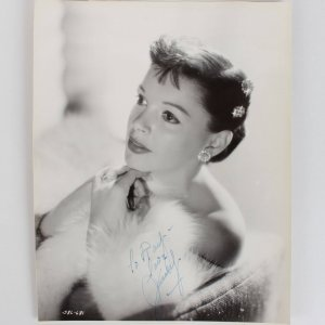 The Wizard of Oz -  Judy Garland Signed 8x10 Vintage Photo - JSA Full LOA
