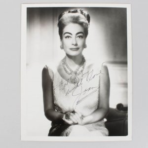 Actress - Joan Crawford Signed 8x10 Vintage Photo - JSA