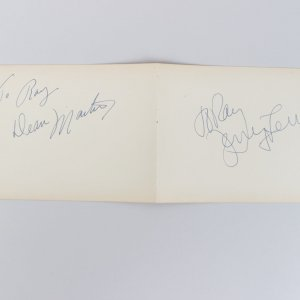 Singer Dean Martin & Jerry Lewis Signed 4x6 Cut