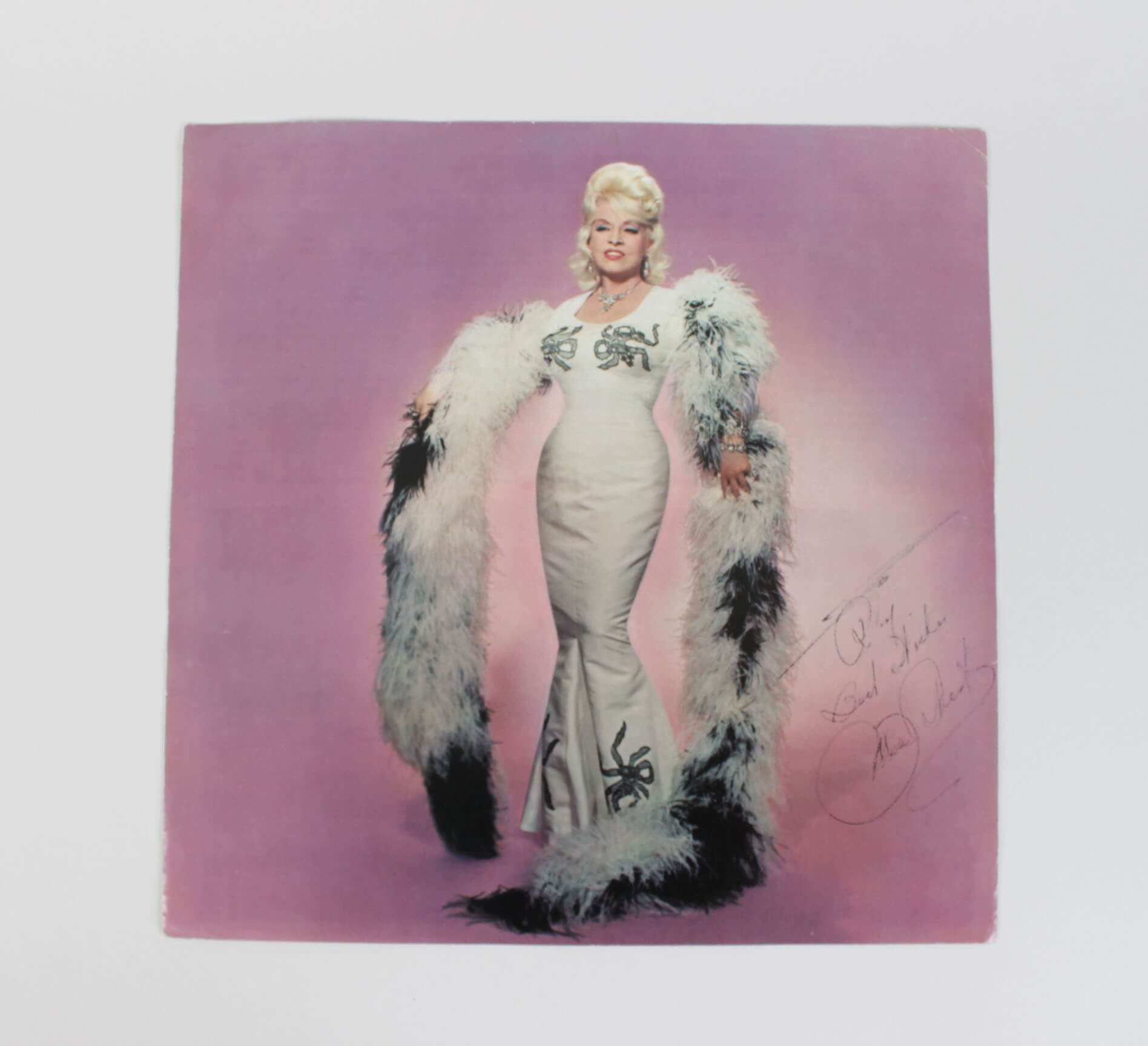Singer Mae West Signed Record Insert45164_01