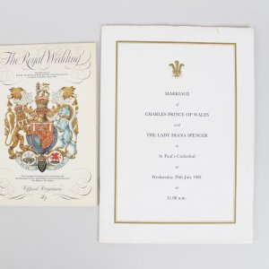 1981 The Royal Wedding Invited Guest Invitation & Celebration Programs - Prince Charles & Lady Diana Spencer