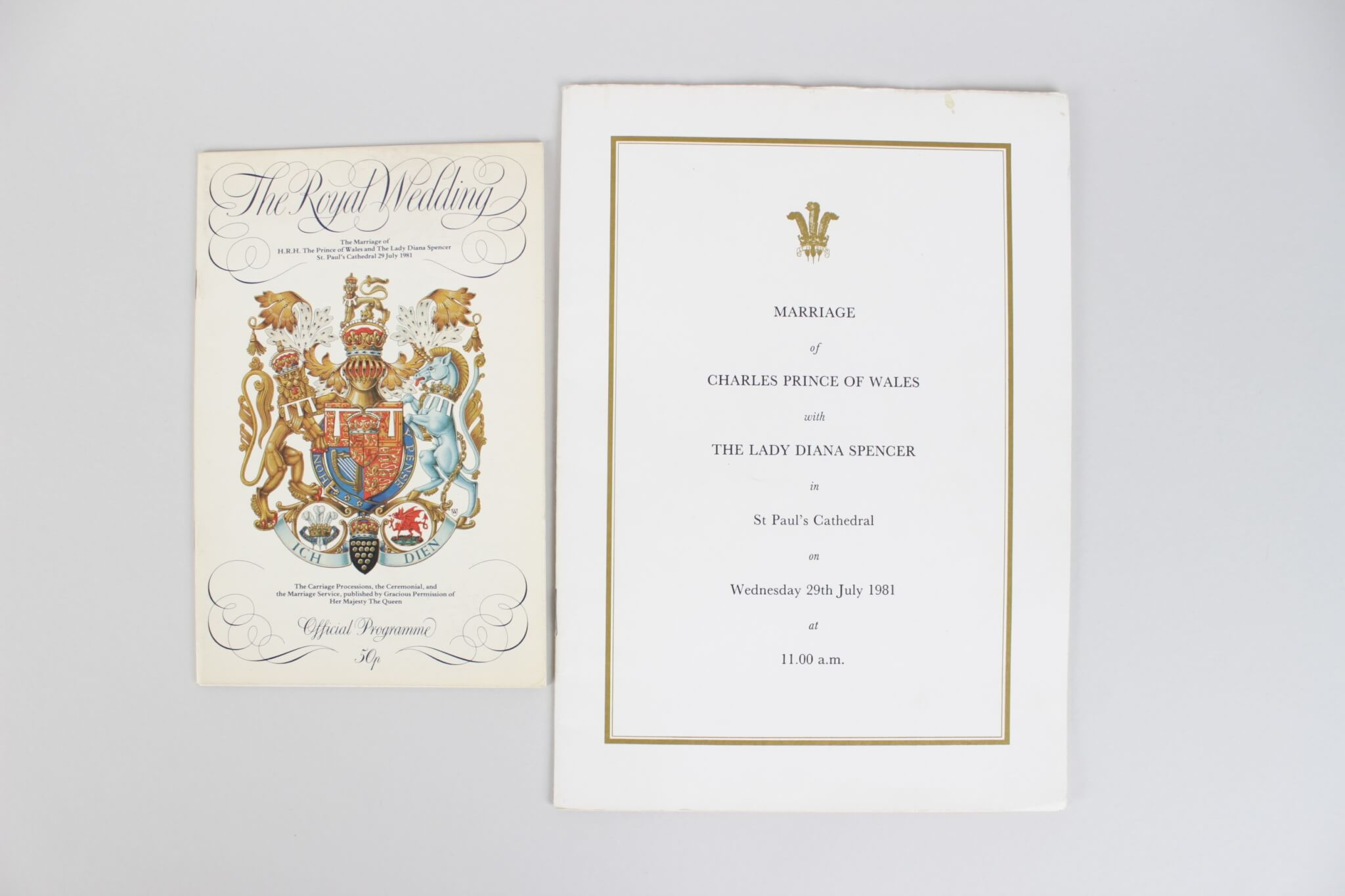 1981 the royal wedding invited guest invitation celebration programs - Royal Wedding Invitation