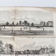 Harper's Weekly October 3-5, 1859: England vs USA Match Report Cricket & Baseball