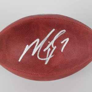 "Michael Vick"" No. 7"" Signed Football (Silver Sharpie) COA PSA"