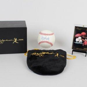 KC Royals George Brett Single Signed Baseball - (COA Reggie Jackson)