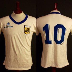 A Diego Maradona Game-Used #10 Argentina National Team Away Shirt.  1981.