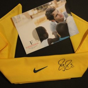 A Roger Federer Game-Used & Signed Custom Nike Tennis Bandana.  2011 Australian Open.