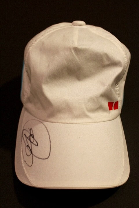 A Novak Djokovic Game-Used   Signed Custom UNIQLO Tennis Hat. 2015 ATP  Western   Southern Open Final. (v. Federer)  dbab5be9285