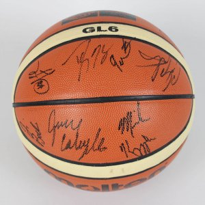 2007 FIBA Americas Championships 2008 USA Olympic Team-Signed Basketball 15 Sigs. LeBron James, Kobe Bryant etc. (JSA Full LOA)