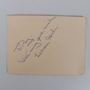 First Lady of American Cinema - Lillian Gish Signed 3x4 Vintage Cut- COA JSA