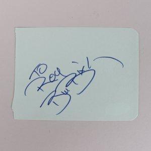 Bill Bixby Signed 3x5 Cut (JSA)