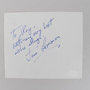 Save the Tiger - Jack Lemmon Signed 5x6 Vintage Album Page - COA JSA