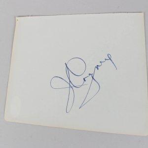 James Cagney & Christine Carère Signed 5×6 Cut (JSA)